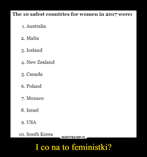 I co na to feministki? –