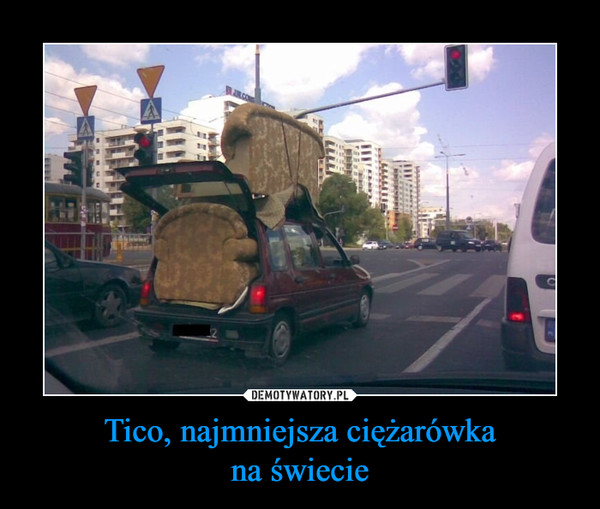 Tico, najmniejsza ciężarówkana świecie –