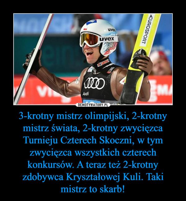 3-krotny mistrz olimpijski, 2-krotny mistrz świata, 2-krotny zwycięzca Turnieju Czterech Skoczni, w tym zwycięzca wszystkich czterech konkursów. A teraz też 2-krotny zdobywca Kryształowej Kuli. Taki mistrz to skarb! –