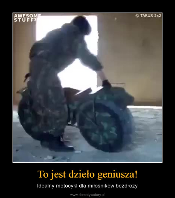 To jest dzieło geniusza! – Idealny motocykl dla miłośników bezdroży
