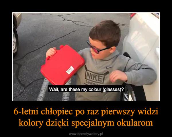 6-letni chłopiec po raz pierwszy widzi kolory dzięki specjalnym okularom –