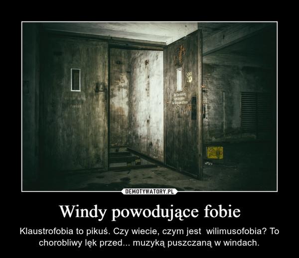 Windy powodujące fobie – Klaustrofobia to pikuś. Czy wiecie, czym jest  wilimusofobia? To chorobliwy lęk przed... muzyką puszczaną w windach.