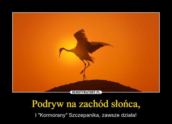 """Podryw na zachód słońca, – I """"Kormorany"""" Szczepanika, zawsze działa!"""