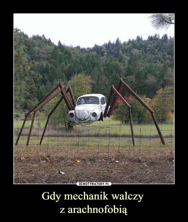Gdy mechanik walczy z arachnofobią –