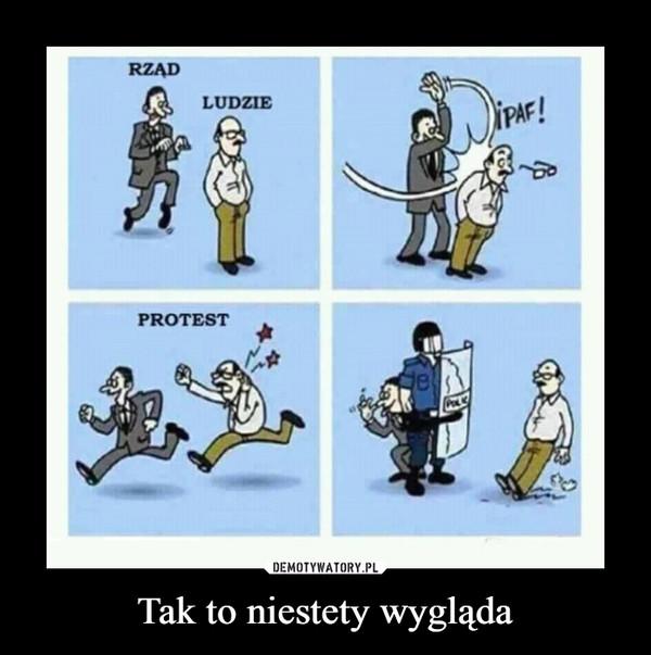 Tak to niestety wygląda –  RZĄD LUDZIE PROTEST