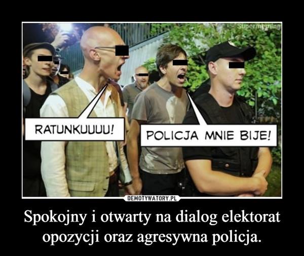 Spokojny i otwarty na dialog elektorat opozycji oraz agresywna policja. –