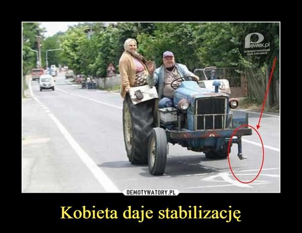 Kobieta daje stabilizację –