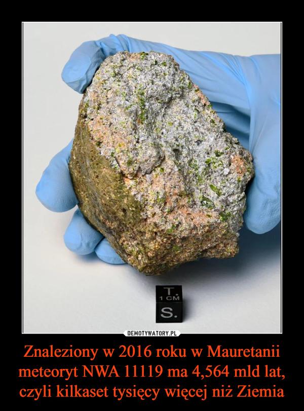 Znaleziony w 2016 roku w Mauretanii meteoryt NWA 11119 ma 4,564 mld lat, czyli kilkaset tysięcy więcej niż Ziemia –