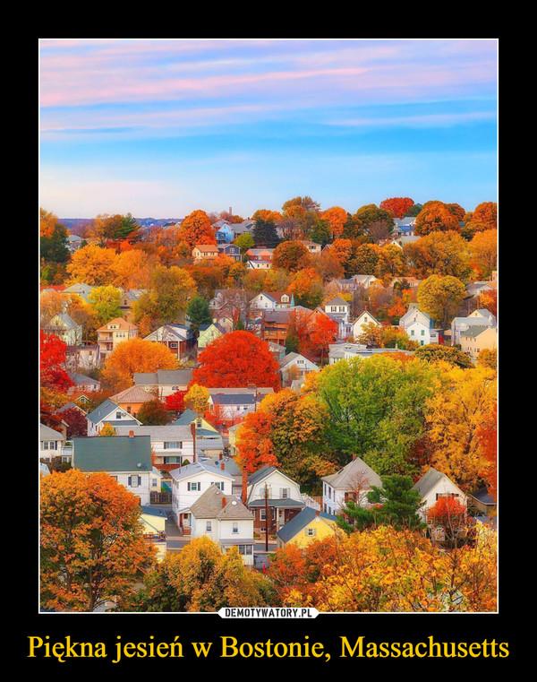 Piękna jesień w Bostonie, Massachusetts –