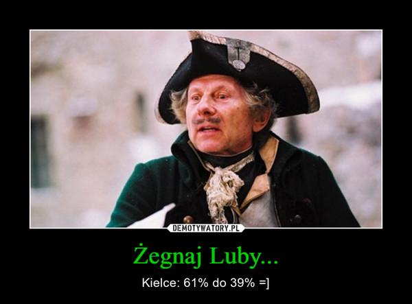 Żegnaj Luby... – Kielce: 61% do 39% =]