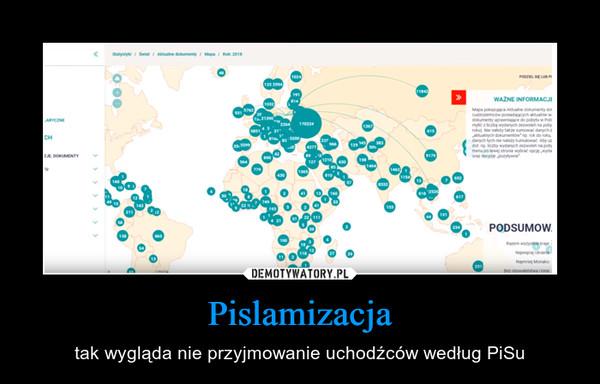 Pislamizacja – tak wygląda nie przyjmowanie uchodźców według PiSu
