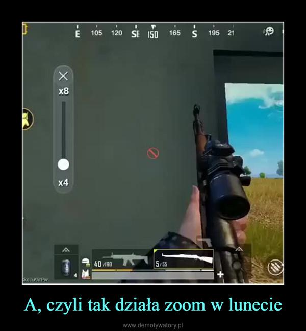 A, czyli tak działa zoom w lunecie –