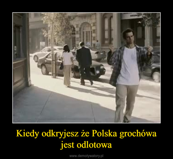 Kiedy odkryjesz że Polska grochówajest odlotowa –