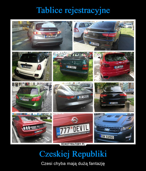 Czeskiej Republiki – Czesi chyba mają dużą fantazję