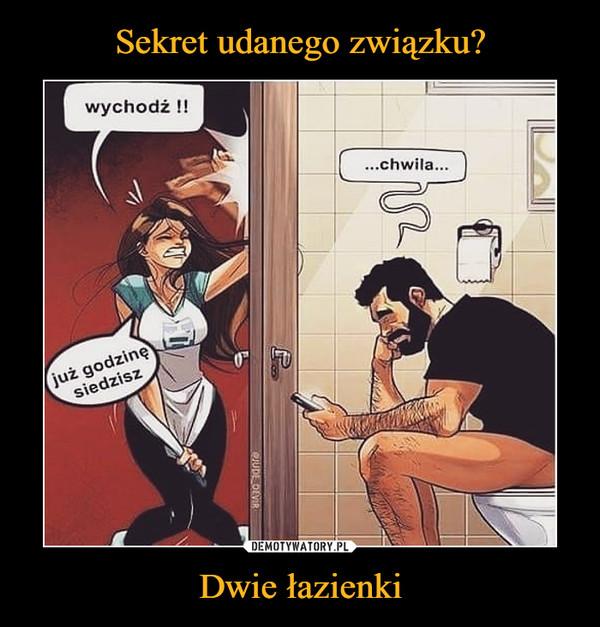 Dwie łazienki –