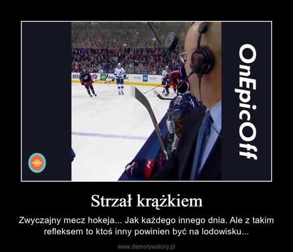 Strzał krążkiem – Zwyczajny mecz hokeja... Jak każdego innego dnia. Ale z takim refleksem to ktoś inny powinien być na lodowisku...