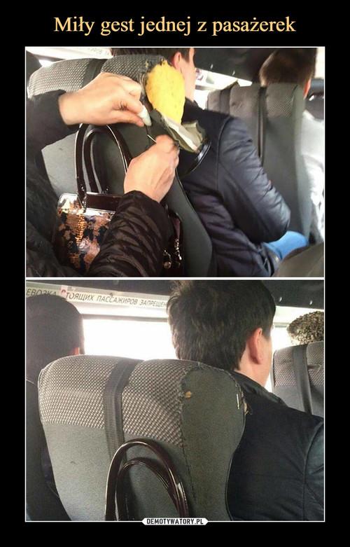 Miły gest jednej z pasażerek