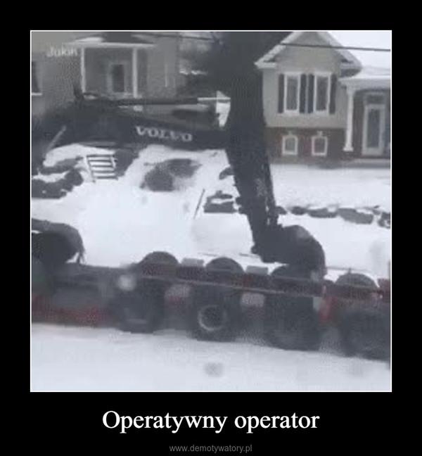 Operatywny operator –