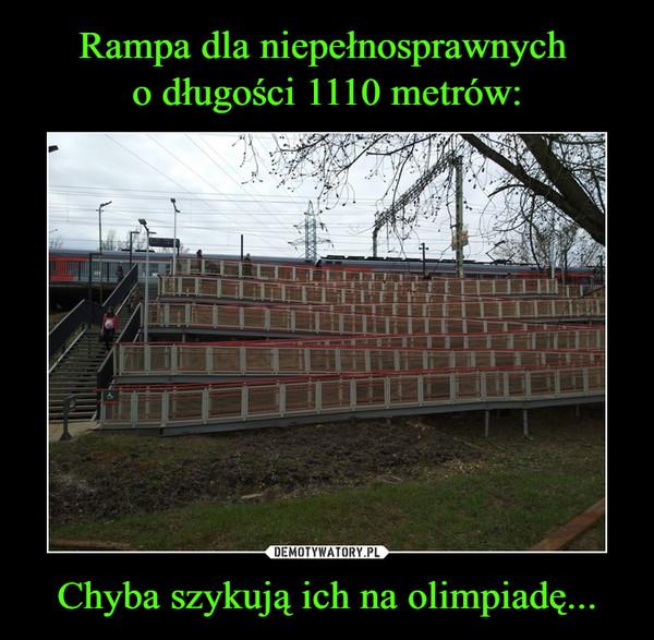 Chyba szykują ich na olimpiadę... –