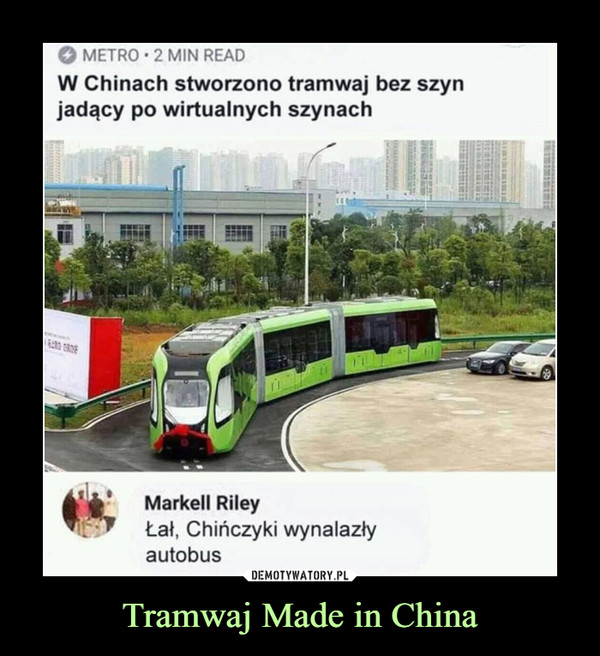 Tramwaj Made in China –