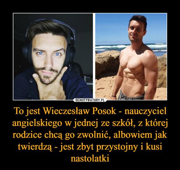 To jest Wieczesław Posok - nauczyciel angielskiego w jednej ze szkół, z której rodzice chcą go zwolnić, albowiem jak twierdzą - jest zbyt przystojny i kusi nastolatki –
