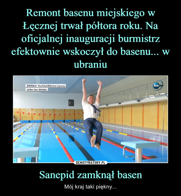 Sanepid zamknął basen – Mój kraj taki piękny...