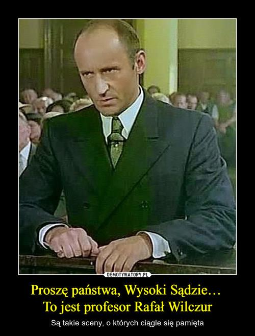 Proszę państwa, Wysoki Sądzie…  To jest profesor Rafał Wilczur