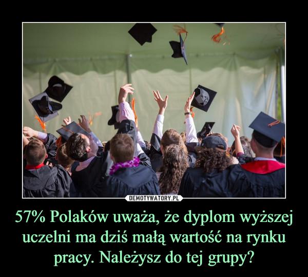 57% Polaków uważa, że dyplom wyższej uczelni ma dziś małą wartość na rynku pracy. Należysz do tej grupy? –