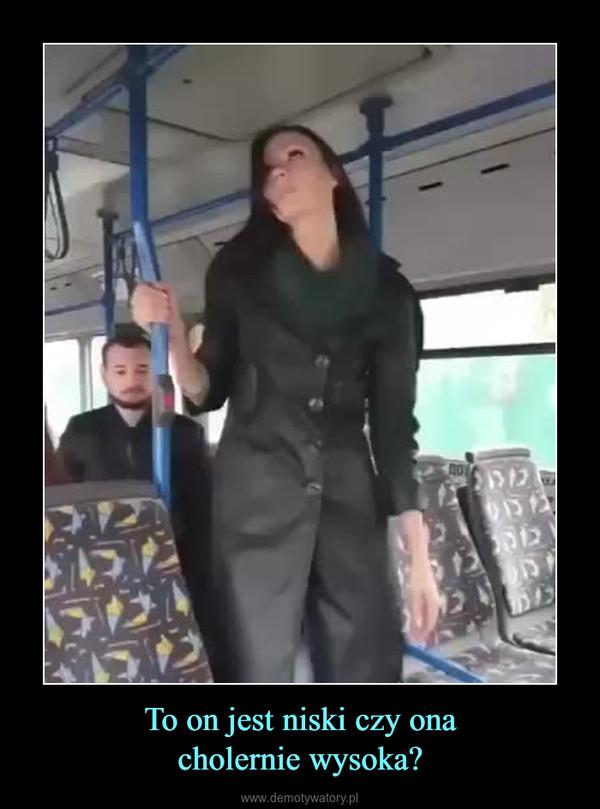 To on jest niski czy onacholernie wysoka? –