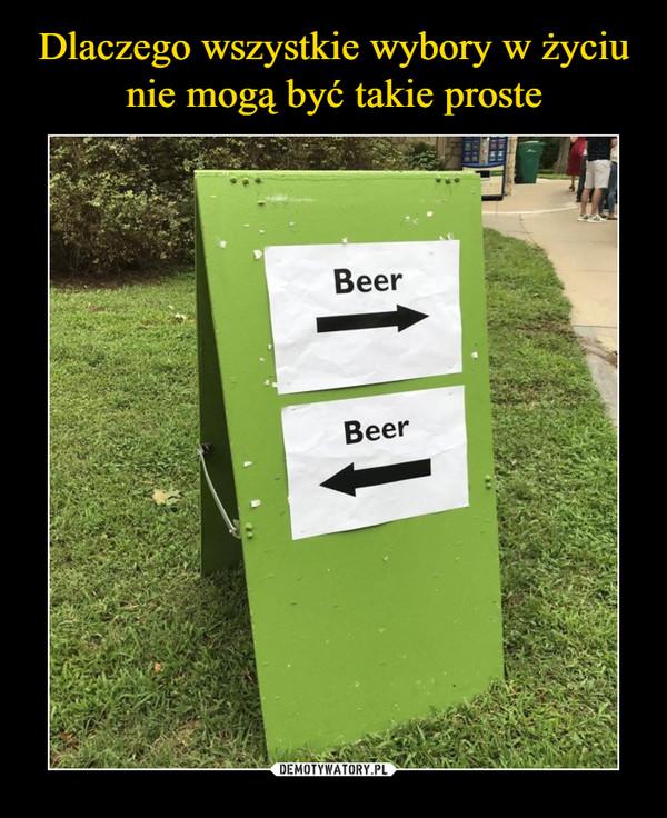 –  Beer