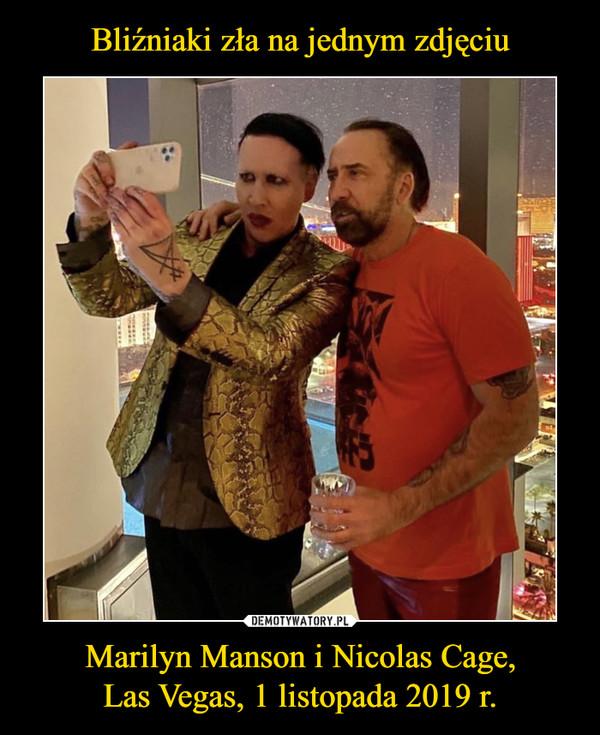 Marilyn Manson i Nicolas Cage,Las Vegas, 1 listopada 2019 r. –