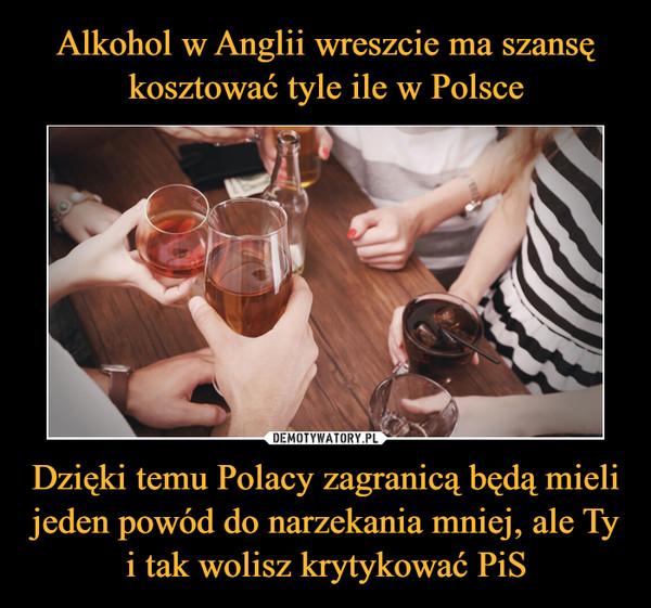 Dzięki temu Polacy zagranicą będą mieli jeden powód do narzekania mniej, ale Ty i tak wolisz krytykować PiS –
