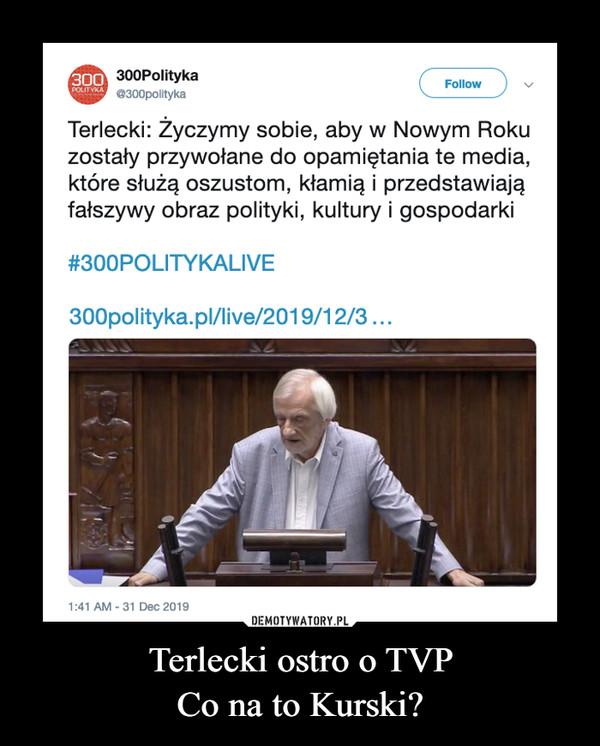 Terlecki ostro o TVPCo na to Kurski? –