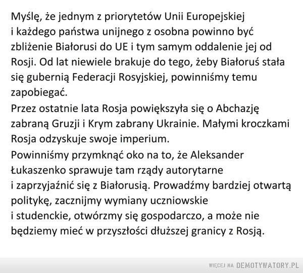 Polityka wobec Białorusi –