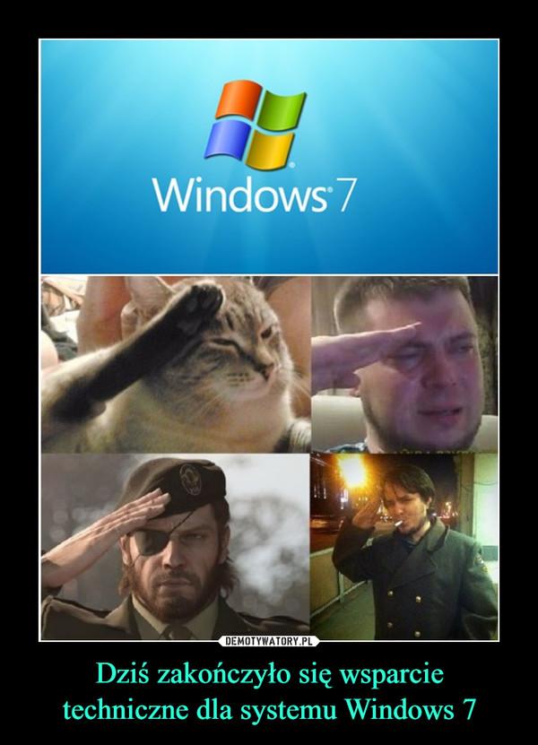 Dziś zakończyło się wsparcietechniczne dla systemu Windows 7 –