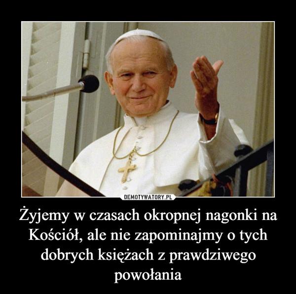 Żyjemy w czasach okropnej nagonki na Kościół, ale nie zapominajmy o tych dobrych księżach z prawdziwego powołania –