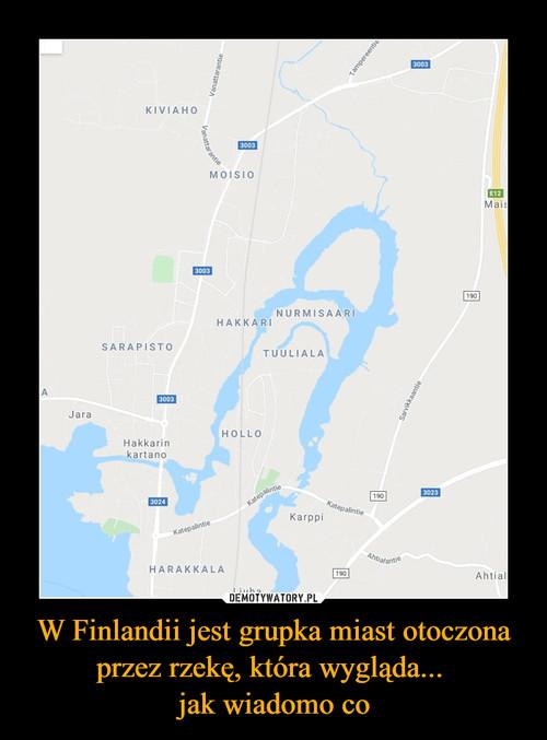 W Finlandii jest grupka miast otoczona przez rzekę, która wygląda...  jak wiadomo co