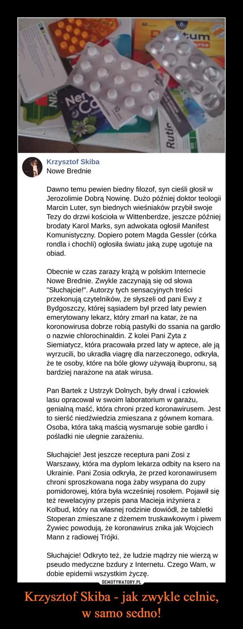 Krzysztof Skiba - jak zwykle celnie, w samo sedno!