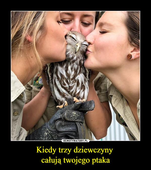 Kiedy trzy dziewczyny całują twojego ptaka –