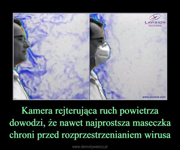 Kamera rejterująca ruch powietrza dowodzi, że nawet najprostsza maseczka chroni przed rozprzestrzenianiem wirusa –