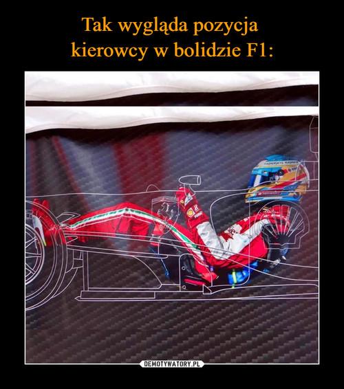 Tak wygląda pozycja  kierowcy w bolidzie F1: