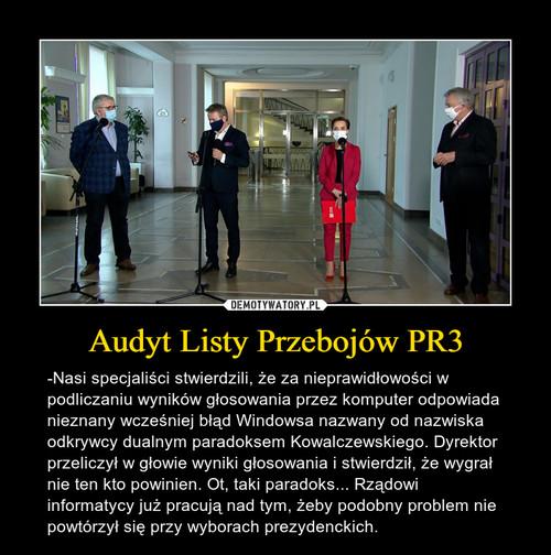 Audyt Listy Przebojów PR3