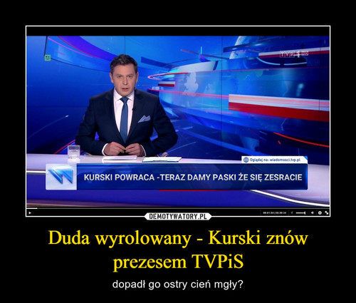 Duda wyrolowany - Kurski znów prezesem TVPiS