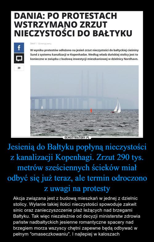 Jesienią do Bałtyku popłyną nieczystości z kanalizacji Kopenhagi. Zrzut 290 tys. metrów sześciennych ścieków miał odbyć się już teraz, ale termin odroczono z uwagi na protesty