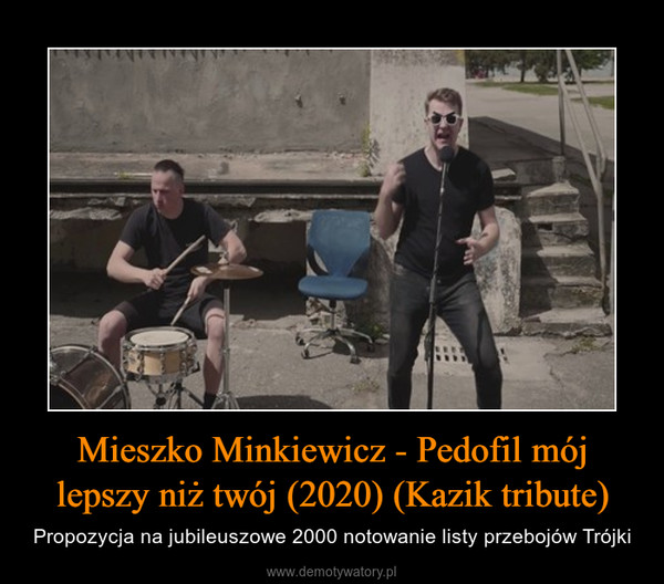 Mieszko Minkiewicz - Pedofil mój lepszy niż twój (2020) (Kazik tribute) – Propozycja na jubileuszowe 2000 notowanie listy przebojów Trójki