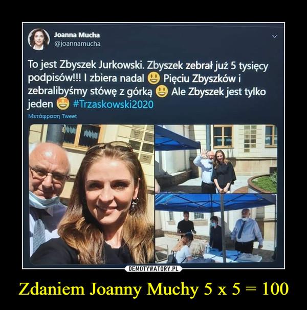 Zdaniem Joanny Muchy 5 x 5 = 100 –