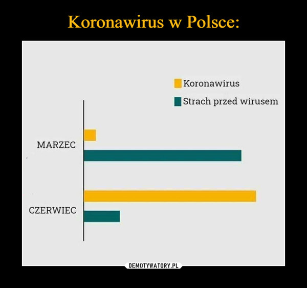 –  Koronawirus  Strach przed wirusem MARZEC CZERWIEC