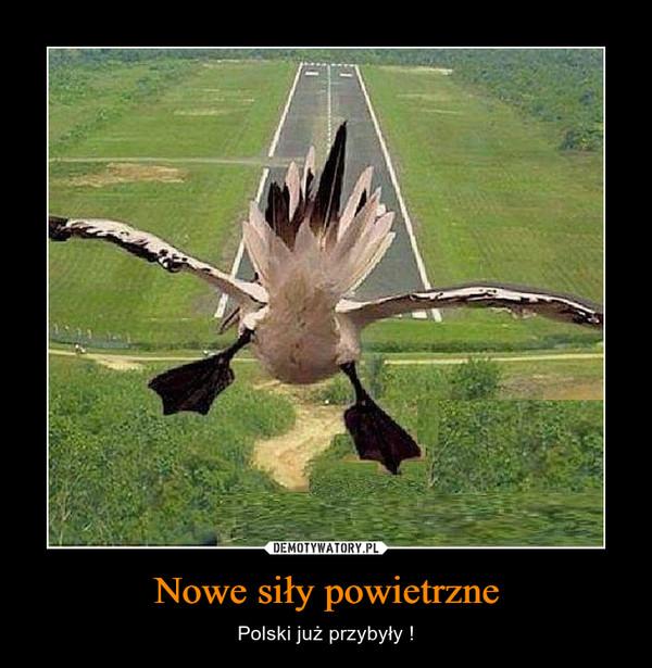 Nowe siły powietrzne – Polski już przybyły !