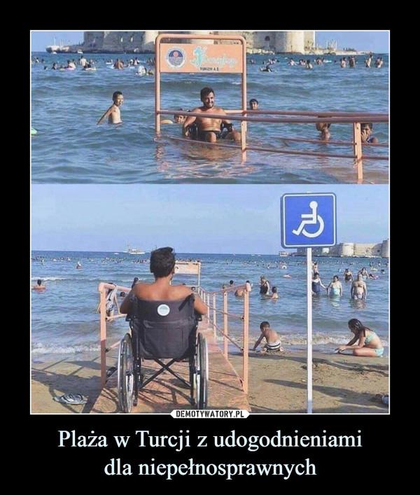 Plaża w Turcji z udogodnieniamidla niepełnosprawnych –