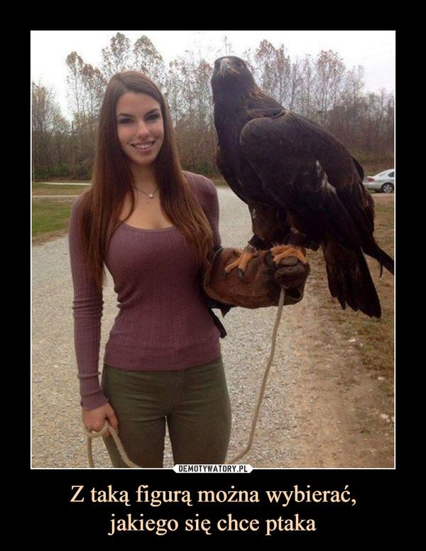 Z taką figurą można wybierać,jakiego się chce ptaka –